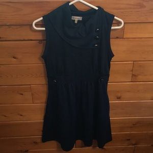 Navy Blue Modcloth Coach Tour A-Line Dress